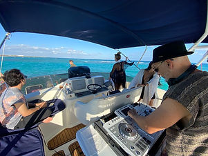 add on's DJ onboard yachts and fishin' charters riviera maya cancun tulum