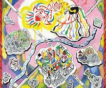 cover art for senyawa calling the new gods LP