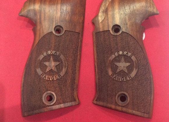 Sig Sauer P 226 grip Texas Ranger Logo