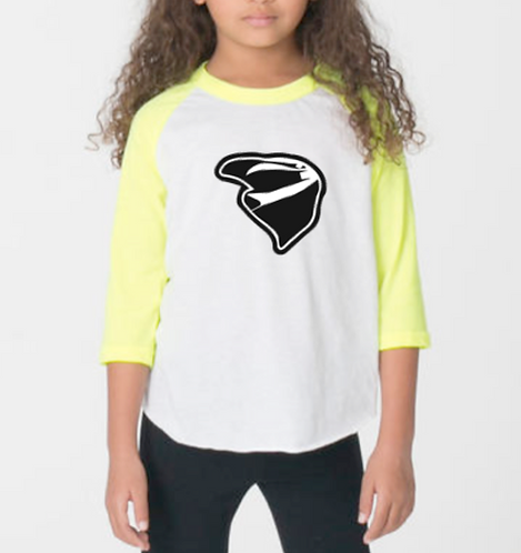 Kids Raglan Tee Yellow