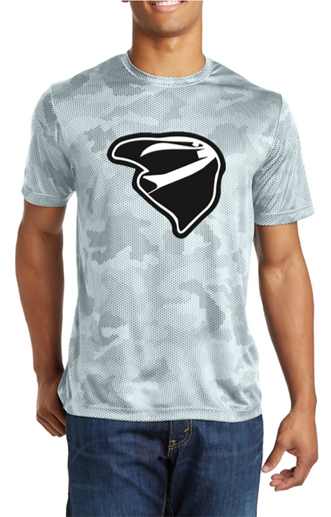 Mens White Grey High Performance Tee