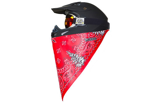 Red and Black Bandito Print Midweight