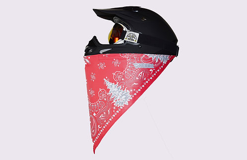 Red and Gray Bandito Print Midweight