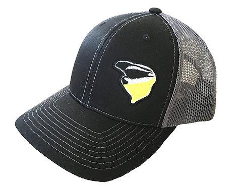 Nekkr Hat Black Yellow/GreenLogo