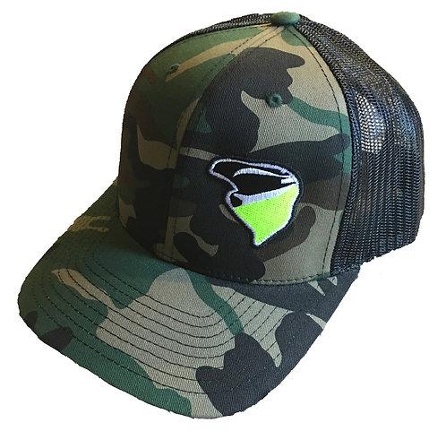 Nekkr Hat Camo Green Logo
