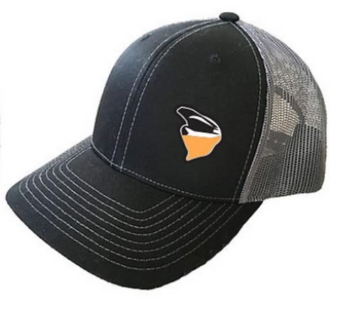 Nekkr Hat Black Orange Logo