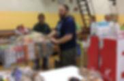 Kevin helping at food pantry