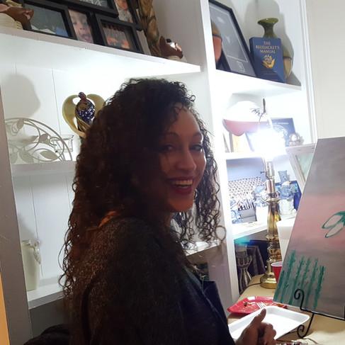 Painting gives joy