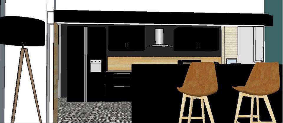 Avant projet 3 D cuisine noire