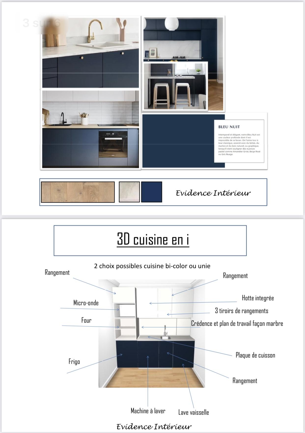 Projet 3D cuisine en i studio Anglet