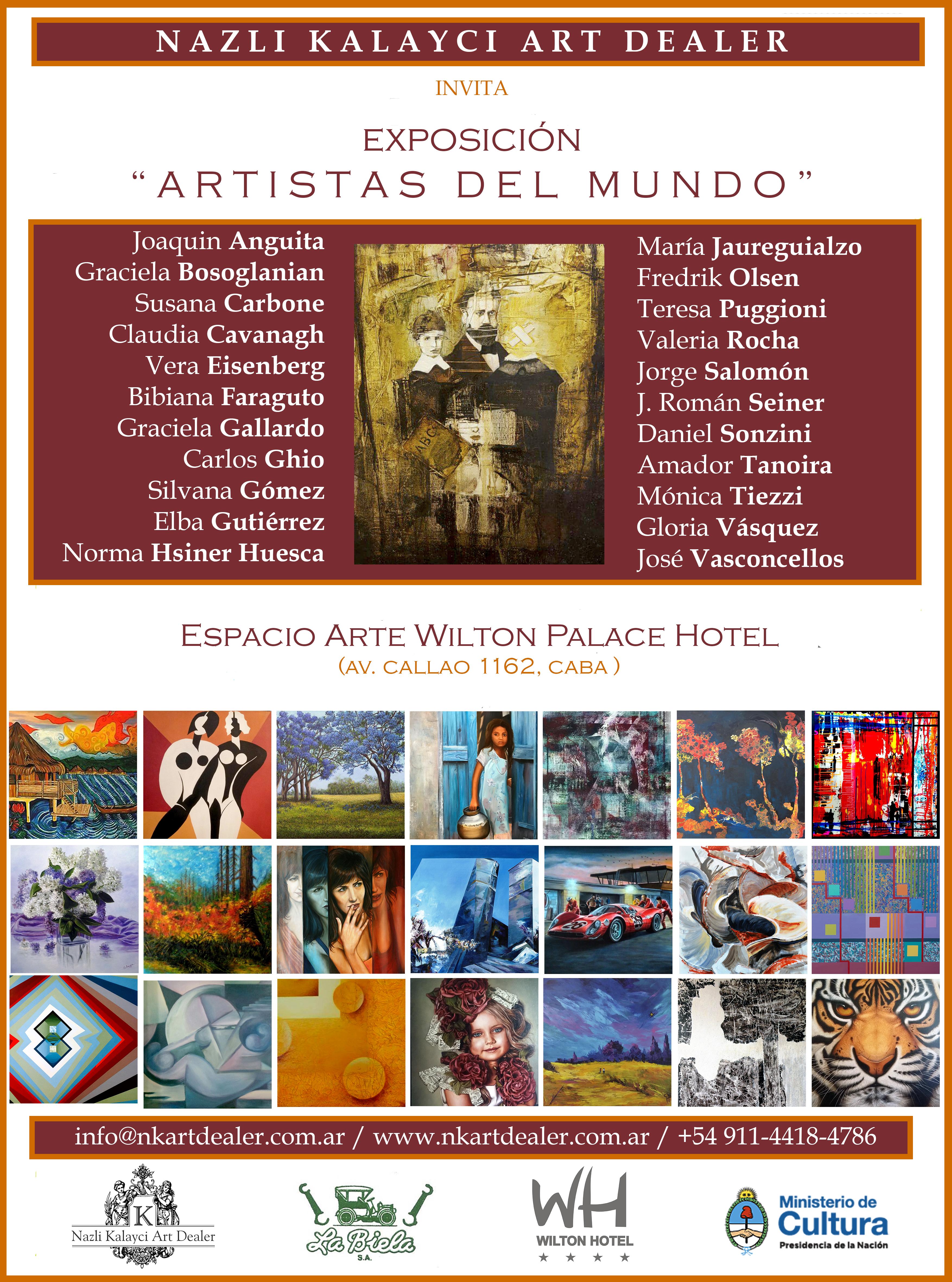 flyer artistas del mundo