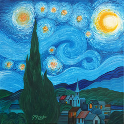 """My own starry night"""