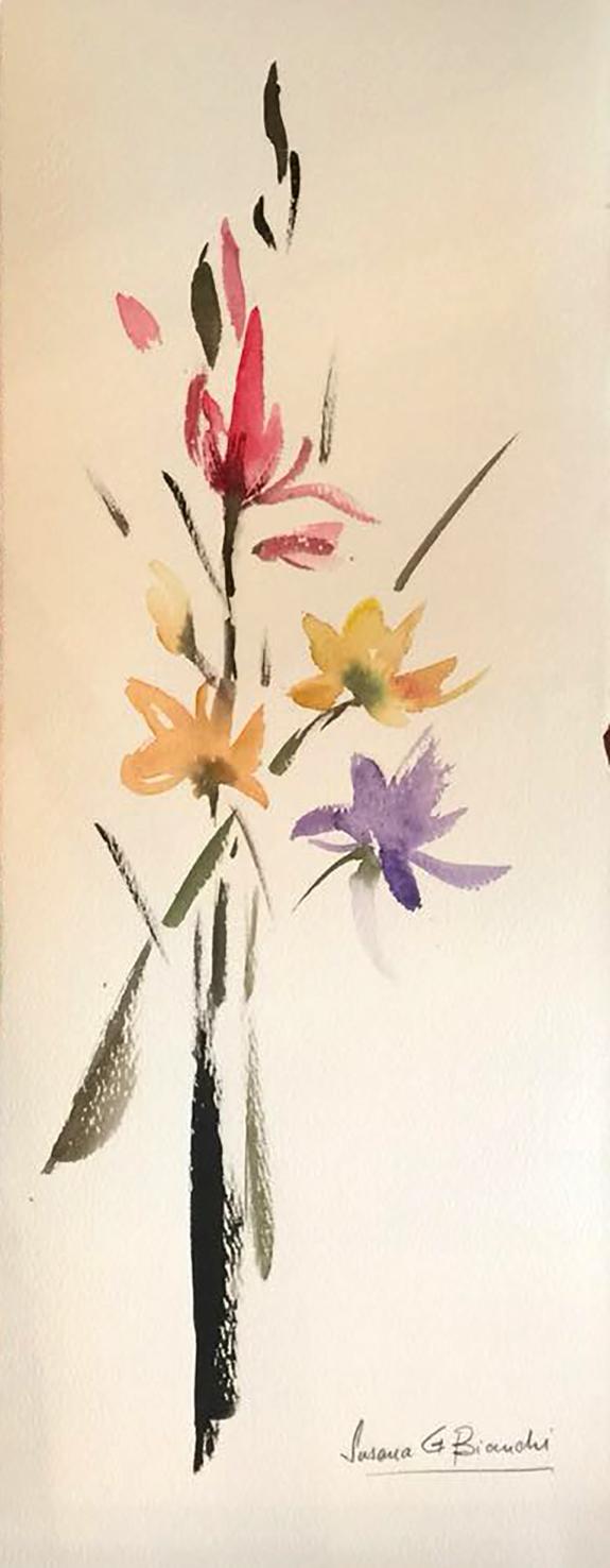 Susana Bianchi- Serie Flores II 25x65 cm