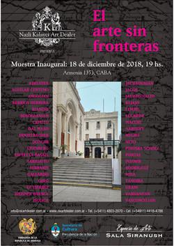 Flyer Arte Sin fronteras con Artistas