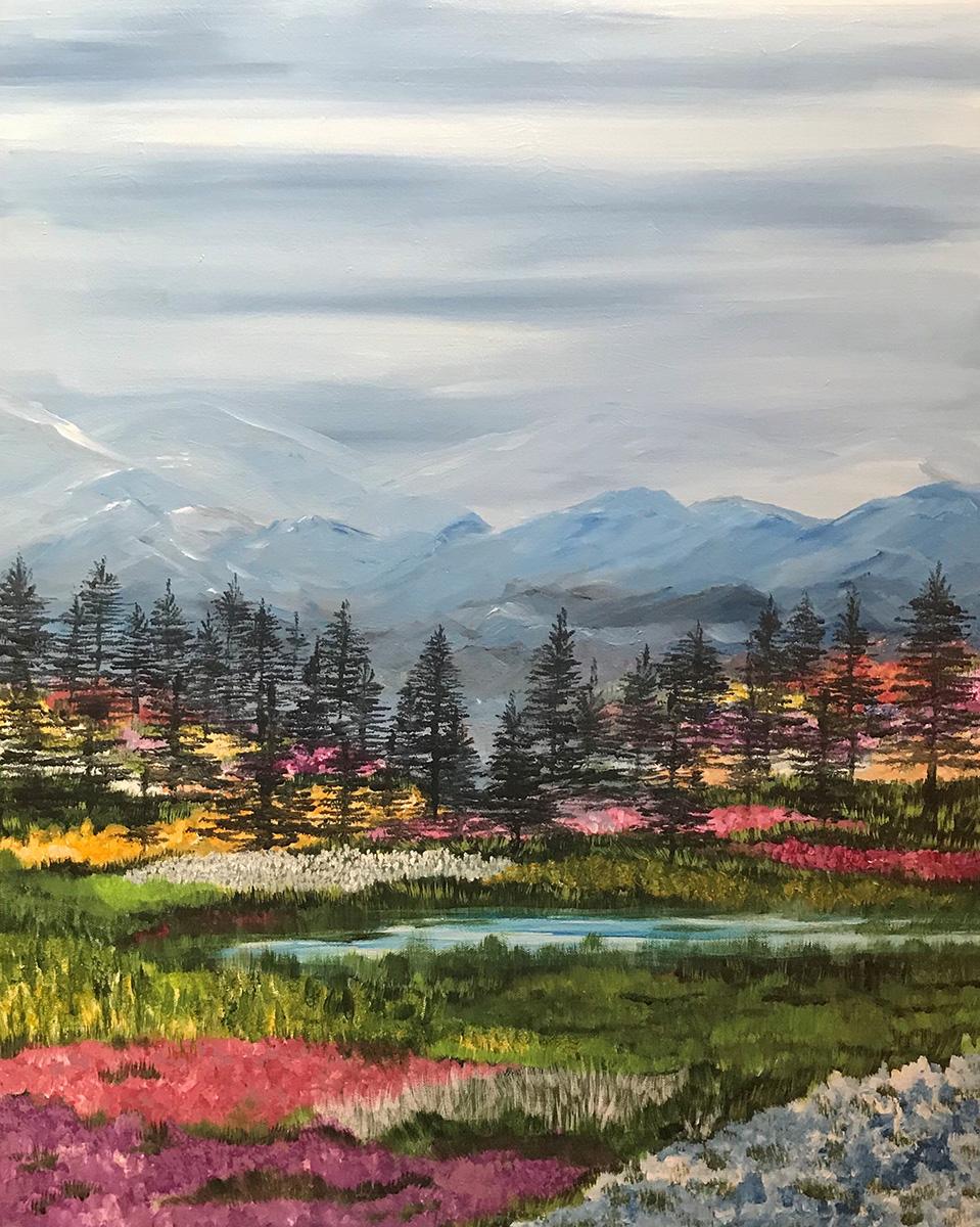 Fabiana Walsh - Spring Mountains - Acryl