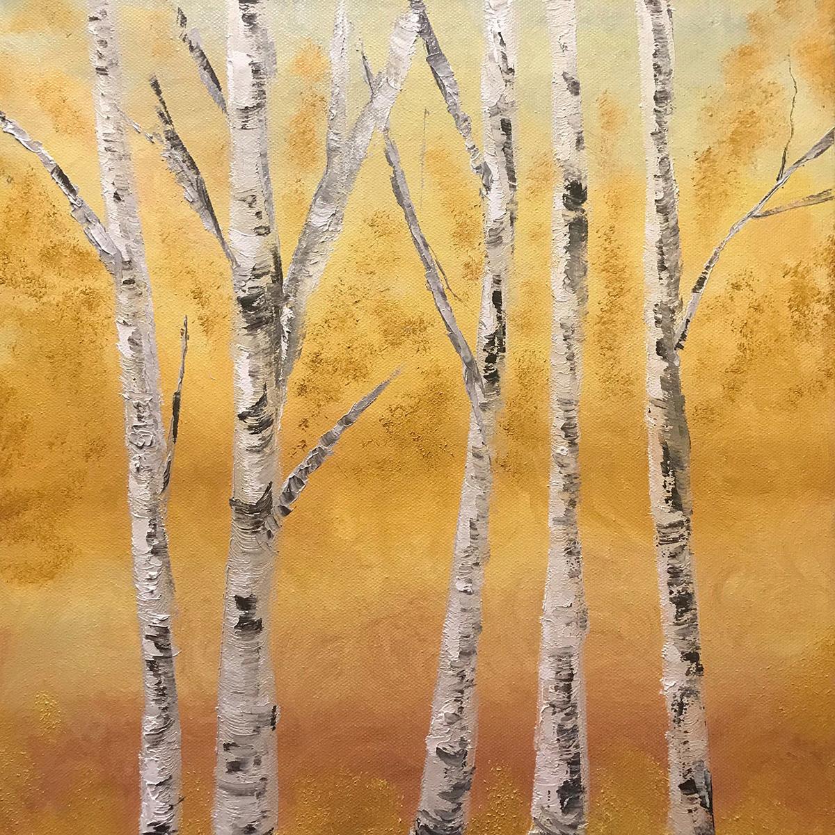 Fabiana Walsh - Birches - Oil on canvas
