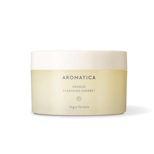 Aromatica Очищающий щербет для лица с маслом канолы и маслом семян бабассу Orang