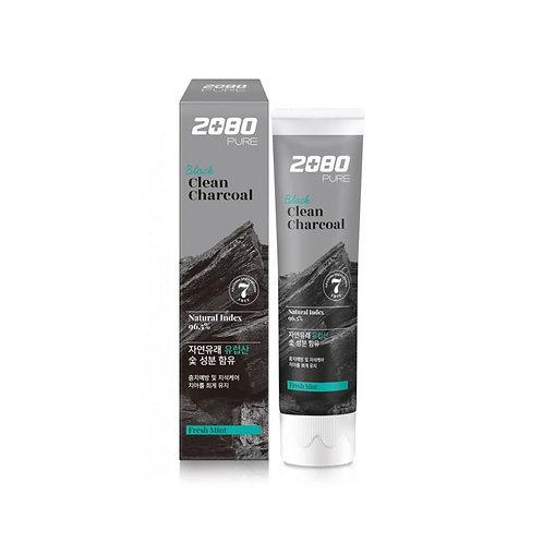 AEKYUNG 2080 Отбеливающая зубная паста с углем и мятой Black Clean Charcoal Toot