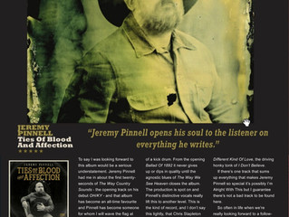 Jeremy Pinnell's 'Ties of Blood and Affection' is Country Music People's Album of th
