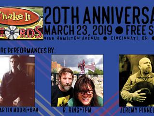 Come celebrate Shake It Records' 20th anniversary!