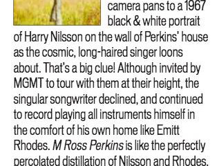 M Ross Perkins gets a fantastic 4 star review from Shindig!