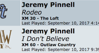 BIG Thanks to SiriusXM Outlaw Country & SiriusXM Radio The Loft for the recent spins this week o