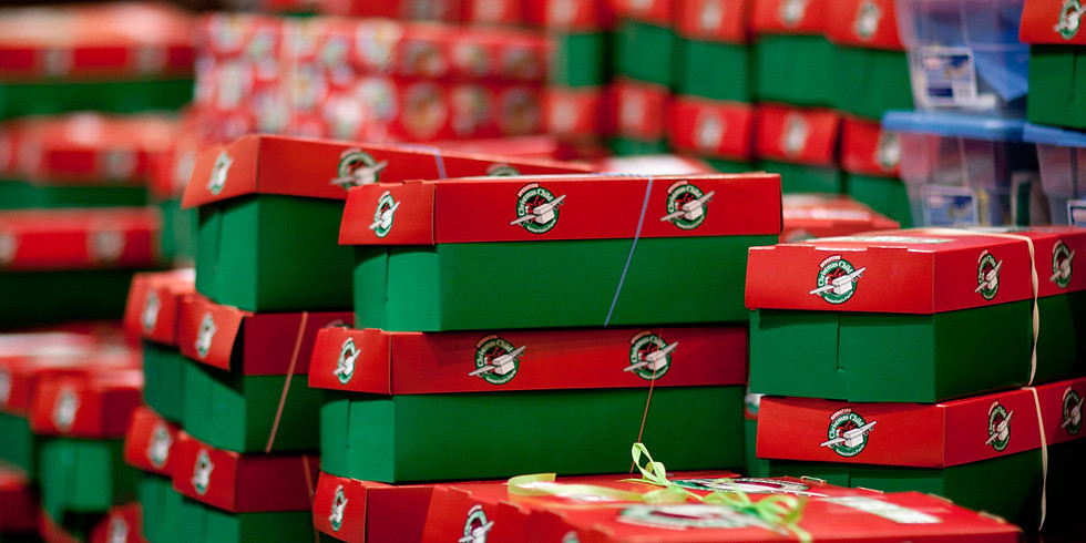 Operation Christmas Child Shoe Box Packing Party