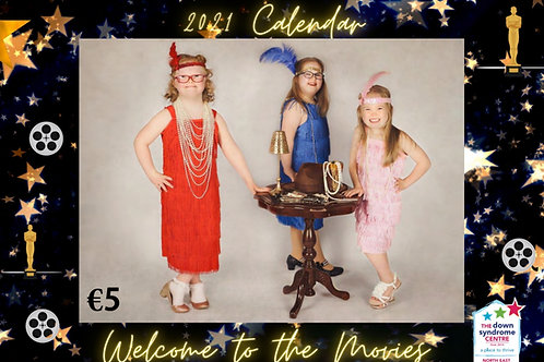 """""""Welcome to the Movies"""" 2021 A4 calendar in support of the DSCNE"""