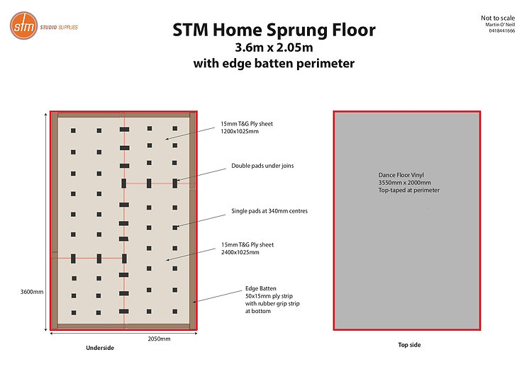 STM Home Sprung Floor Kit w battens 1704