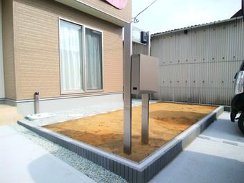 太白区外構工事|お庭の目隠しフェンス工事