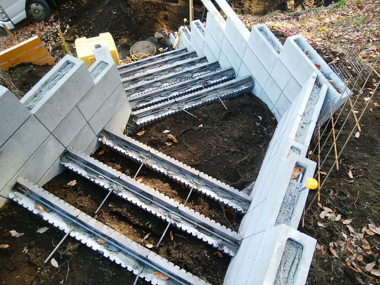 階段と土留め擁壁3