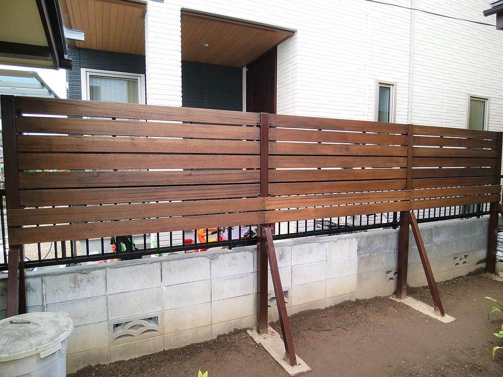 目隠しフェンス工事2