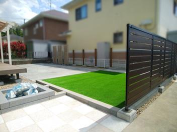 バスケやブランコをして楽しめるお庭のリフォーム・6