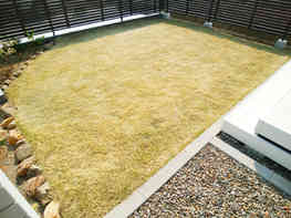 天然芝(TM9)のお庭