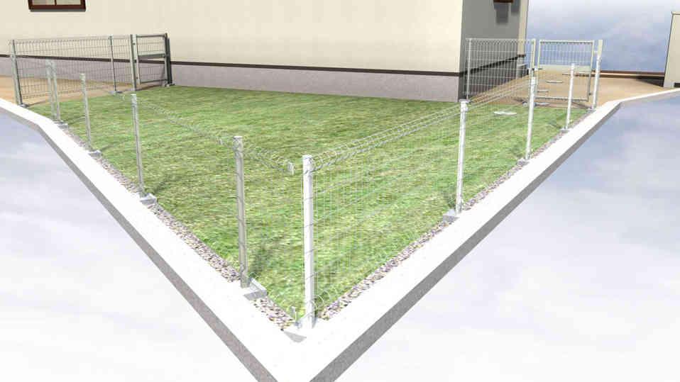 CG:人工芝の遊び場
