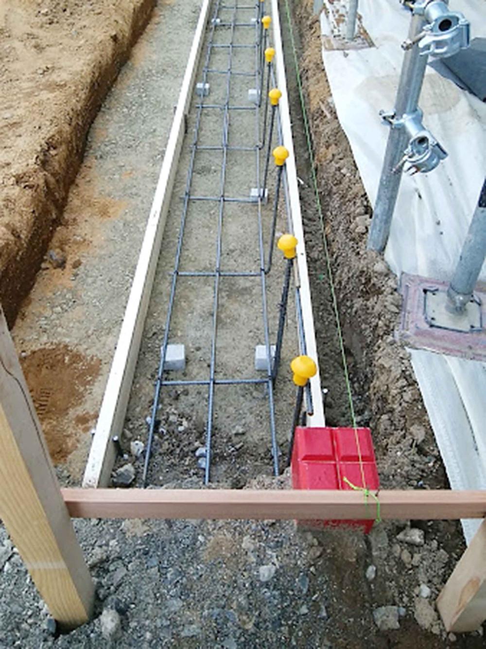 土留めブロック基礎鉄筋組み付け2
