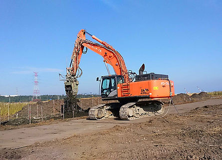 南相馬構造物基礎地盤強化工事写真