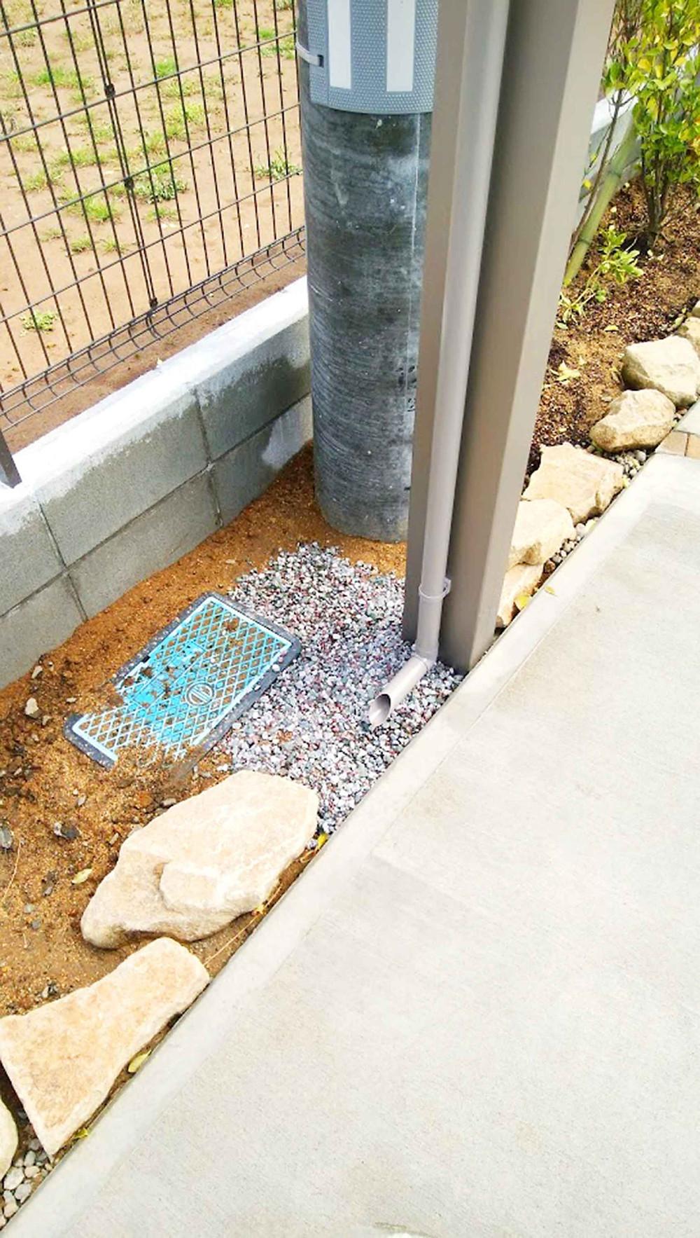 カーポート排水処理