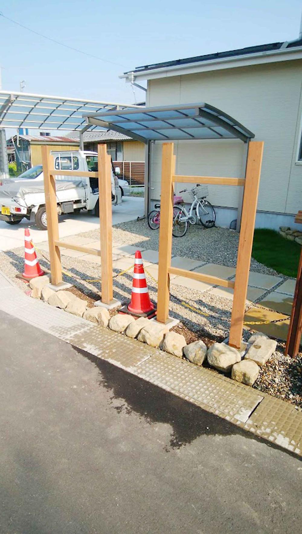 フェンスブロック設置3