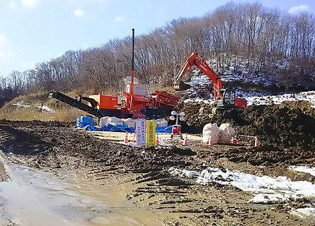 黒川郡掘削土ヒ素不溶化工事写真