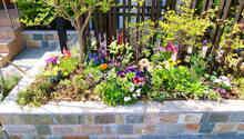 石貼り花壇