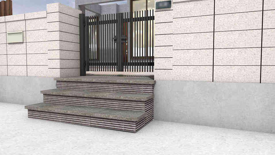 CG:玄関の階段