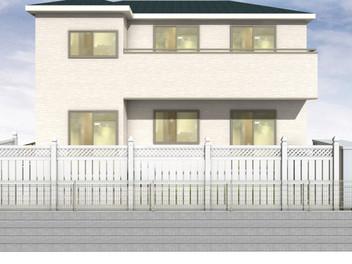 太白区外構工事|バイナルフェンスのお庭と玄関前の一式リフォーム・1