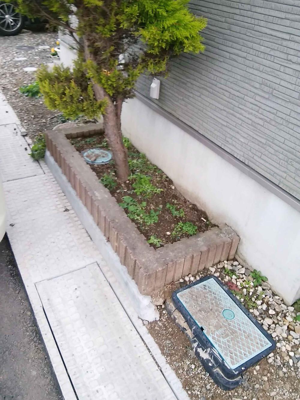 施工前花壇