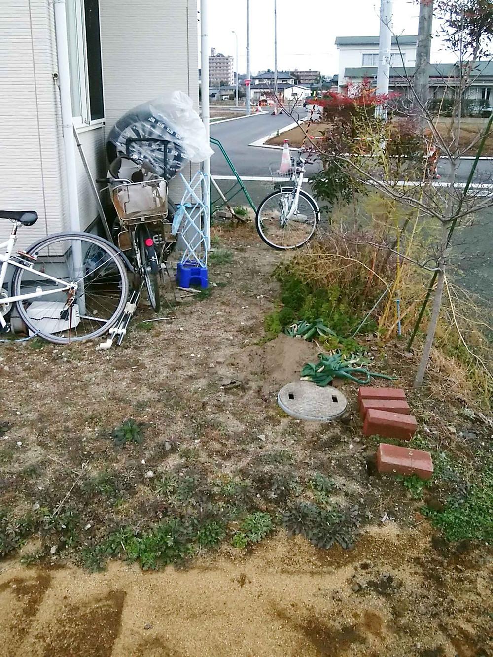 施工前駐輪場