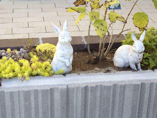 ウサギのオブジェ