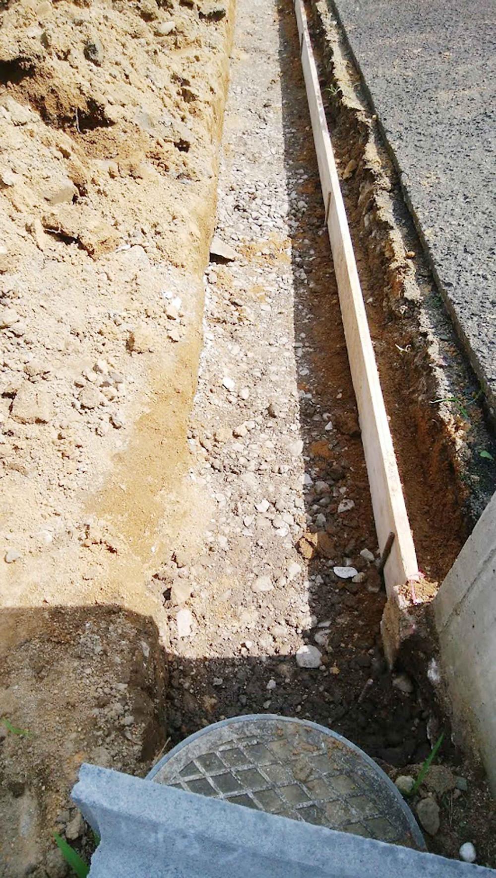 土留めコンクリートブロック基礎1