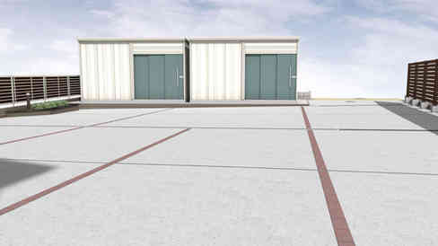 CG:駐車スペース(玄関側から)