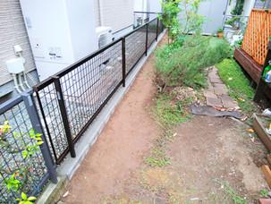 Case69:境界ブロックとフェンスの設置