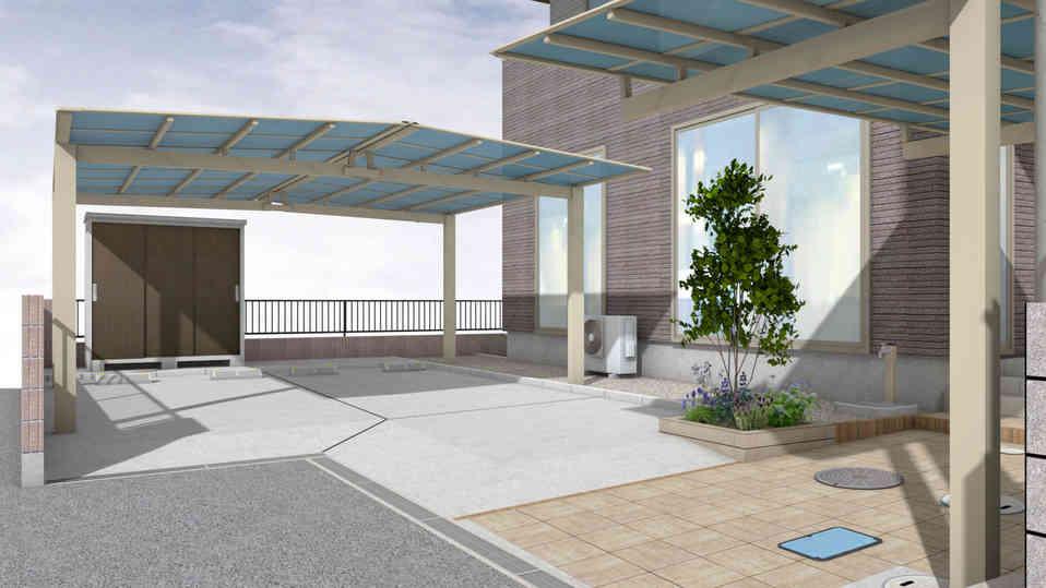 CG:カーポート・駐車場